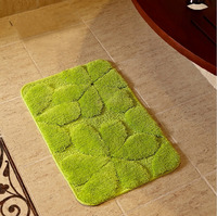 NiceRug Bathroom Carpet Green Leaf Pattern Non slip Rugs and Carpets Water Absorption Floor Mat for Bathroom Living Room Decor