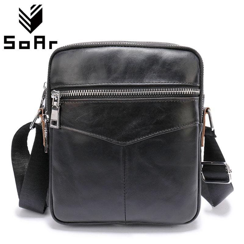 Cowhide Genuine Leather Bag Shoulder Bags Vintage Men Bag High Quality Handbags 2019 New Men'S Crossbody Bags Famous Brands
