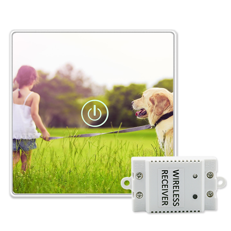Saful Animal Picture DIY Painting Touch Screen Wall Switch 1 Gang 1 Way Crystal Glass Touch Switch For Smart Home Light smart home eu touch switch wireless remote control wall touch switch 3 gang 1 way white crystal glass panel waterproof power