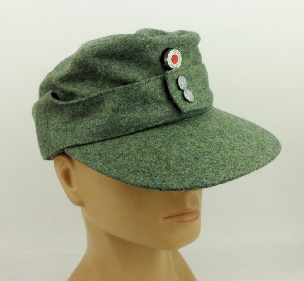 Ww2 German Police M43 Hat Badge: WWII WW2 German Cap Badge With German M43 Cap Hat Wool