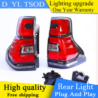 DY_L Car taillight for LC150 GRJ150 Rear Taillights For LAND CRUISER PRADO 2018 LED RL+Brake+Park+Signal led lights
