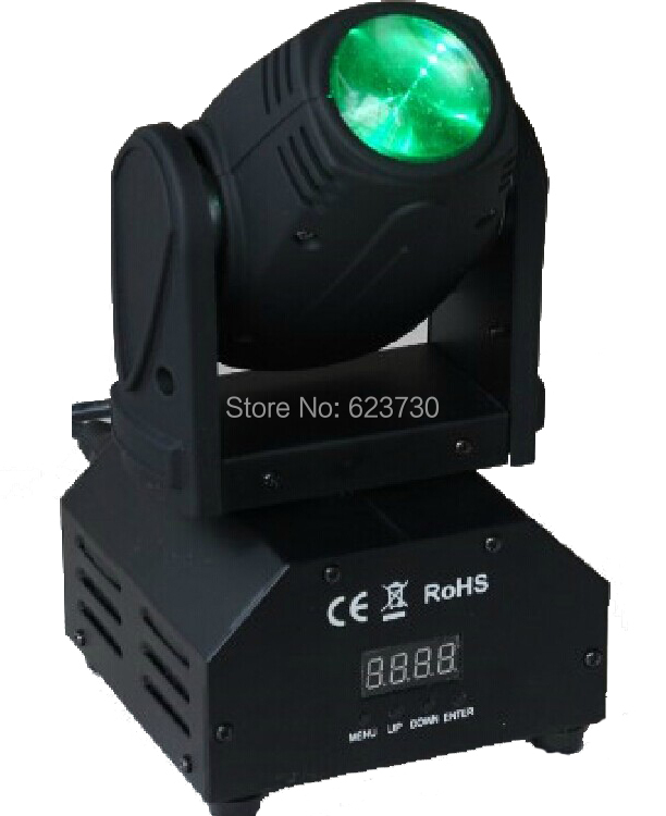 2X LOT Big Sale Freeshipping 10W 4in1 Cree RGBW LED Moving Head Beam,Mini Moving Head Beam Light With 110-240V For Xmas Holiday