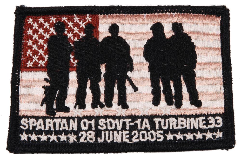 SEAL TEAM SDVT-1A SPARTAN 01 TRIBUTE EMBROIDERED  PATCH - 36292