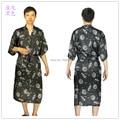 Los nuevos Mens rayon silk Robe pijama camisón de la ropa interior del vestido del Kimono ropa de dormir chino tradicional imprimir 8 colores #3799