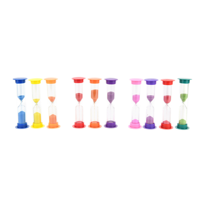 1Pcs Hourglass Sandglass Sand Cook Clock Timer Home Decoration 1/2/3 Mins Random color