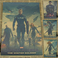 Урожай Бумаги Ретро аниме плакат-Капитан Америка-Плакаты/kid cudi плакат/Vintage Главная стикер Стены Декор 30*21 СМ
