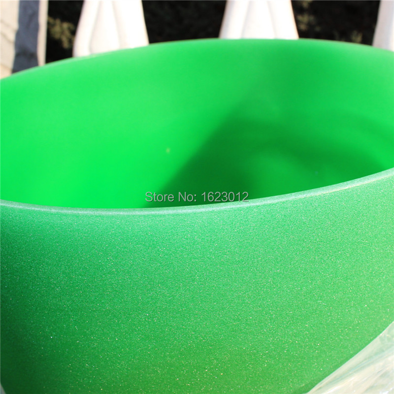 Double Color Frosted F Note Heart Chakra Green Color Quartz Crystal Singing Bowl 10 inch Free suede mallet and o-ring rainbow frosted f heart chakra quartz crystal singing bowl 8 with free mallet and o ring