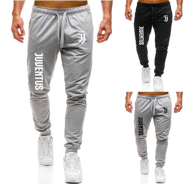 464de95ae76b25 Men's Casual Joggers Black Pants Men Cotton Skinny Sweatpants Bodybuilding  Fitness Track Pants Juventus print Male Trousers Gyms