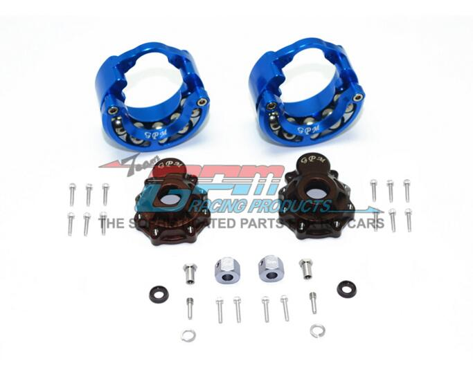 traxxas trx4 metal front and rear cup + stainless steel ball rolling weight ring with 9MM adapter playful chasing and rolling beaver ball 2 aa