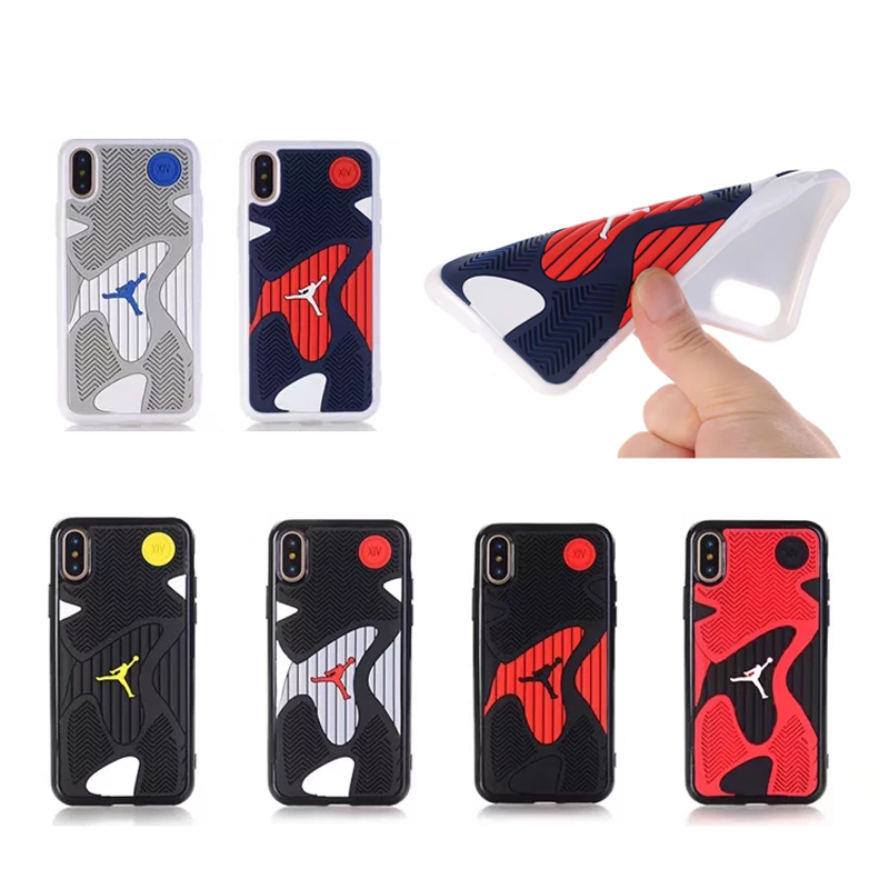 2017 NEW Michael Jordan 14 10 Shoe Sole Rubber case For iphone x High-quality three-dime ...
