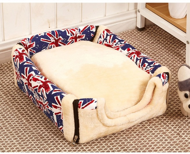 Pet Dog House Nest With Mat Foldable Pet Dog Bed Cat Bed House For Small Medium Dogs Travel Kennels For Cats Pet Products 3