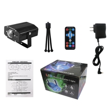 Rgb Led Water Wave Stage Light Remote Control Stage Lights Ripple Display Projector Lamps For Party(Us Plug)