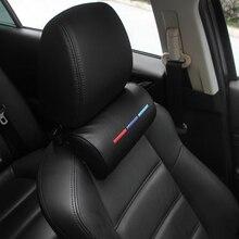 Araba Styling koltuğu boyun yastık koruma PU otomatik kafalık desteği dinlenme seyahat araba kafalık boyun için BMW ///M aksesuarları