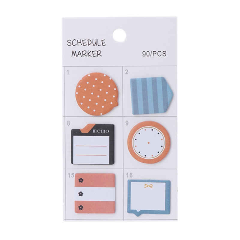 Lovely index stickers Creative Index Flag Tab Notes Sticky Stickers Post Bookmark Marker Memo Pads