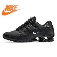 Оригинал 2018 NIKE SHOX NZ ЕС Для мужчин работает уличная спортивная обувь Дизайнерские Официальный атлетикой амортизацию кроссовки со шнуровкой,