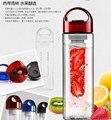 Frete grátis new hot 700 ml boné vermelho da infusão de frutas infusor garrafa de água com caixa de esportes saúde lemon suco make bottleu0297