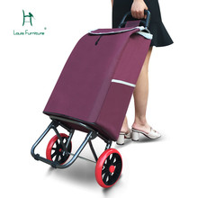 Луи мода тележки корзина для покупок небольшой складной прицеп