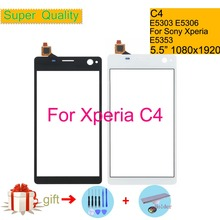 Touchscreen For Sony Xperia C4 E5303 E5306 E5353 Touch Screen Digitizer Front Glass Panel Sensor Lens DUAL E5333 E5343 E5363 lcd display for sony for xperia c4 e5303 e5333 e5353 lcd with digitizer touch screen assembly black and white free shipping