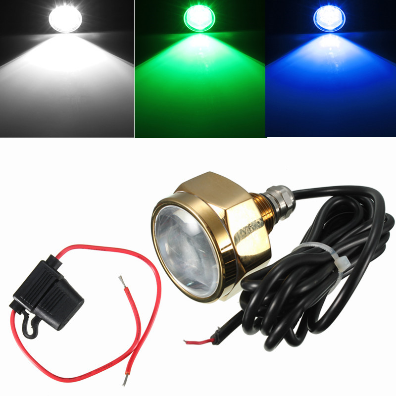Mising 27W 9 LED Boat Drain Plug Light IP68 Waterproof Rate Blue Brightest 1800 Lumens Underwater Boat Lamp black real leather 2017 mules summer brown european loafers men genuine shoes moccasins half male casual slip ons hot sale page 8