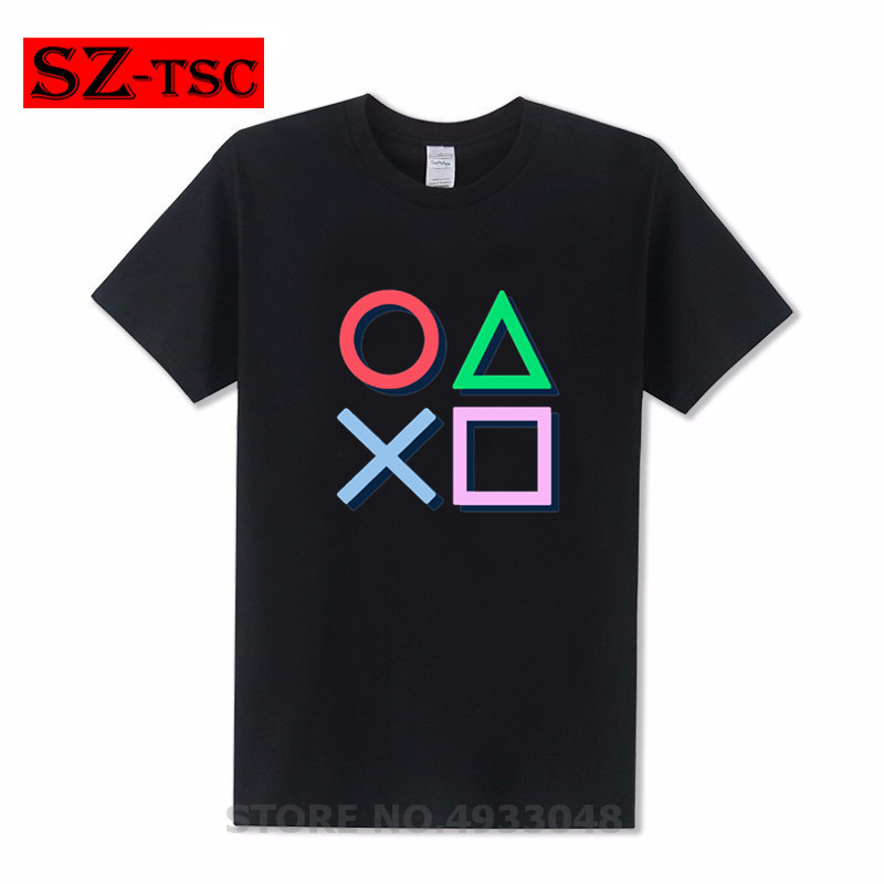 Video Game Playstation T-Shirt Star Wars Tshirt Men T-Shirt Art Designer Clothing Summer Tops 100% Cotton Tee Unique Artist image