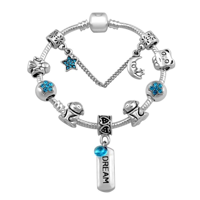 2019 New Design Moon Stars Dream Charms Bracelet For Women