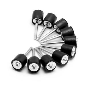 """Image 1 - 10Pcs Drum Rubber Opspandoorns 1/8 """"Shank Fit Schuren Mouwen Voor Dremel Rotary Tool 1/2"""""""