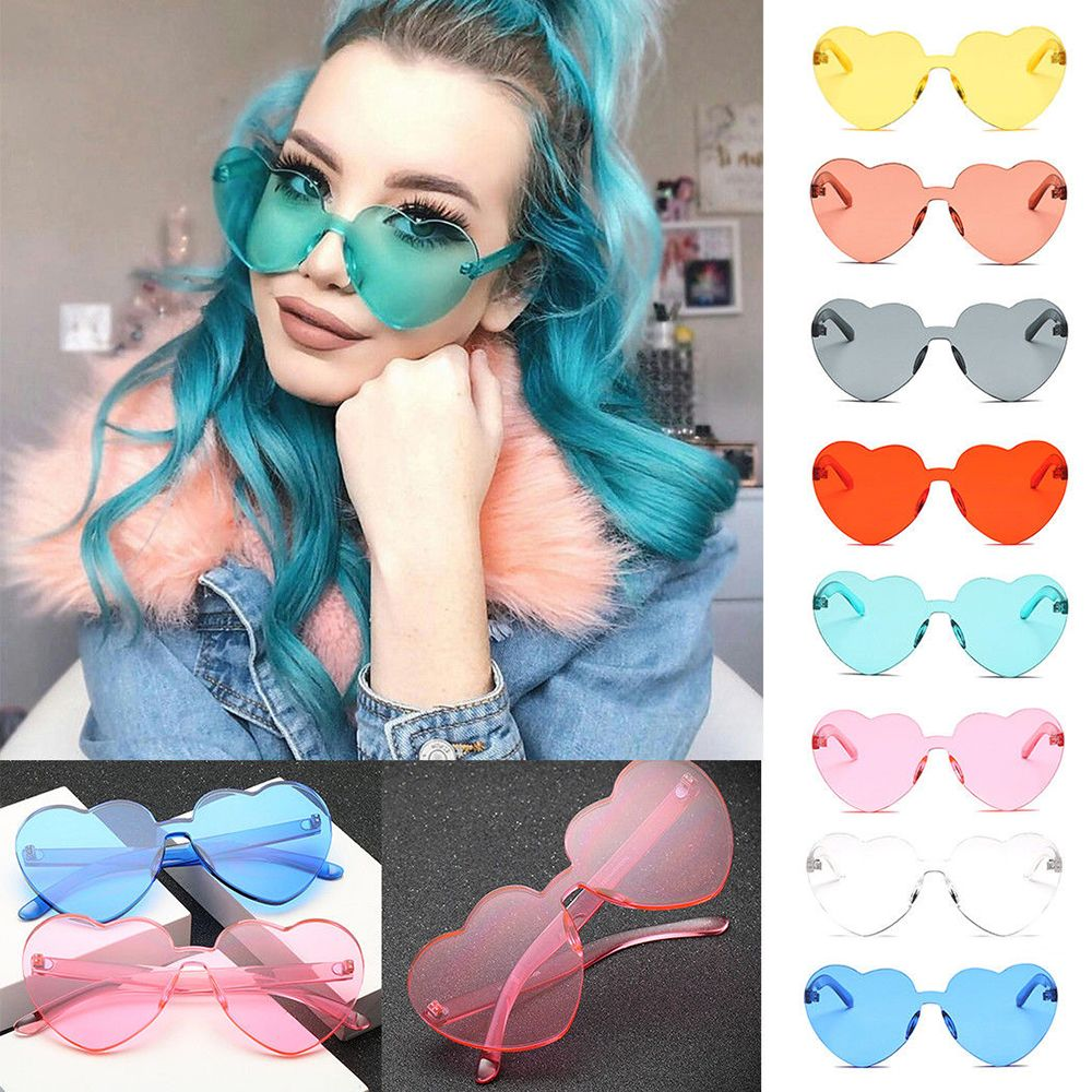 Love Heart Sunglasses Oversized Womens Fashion Eyewear