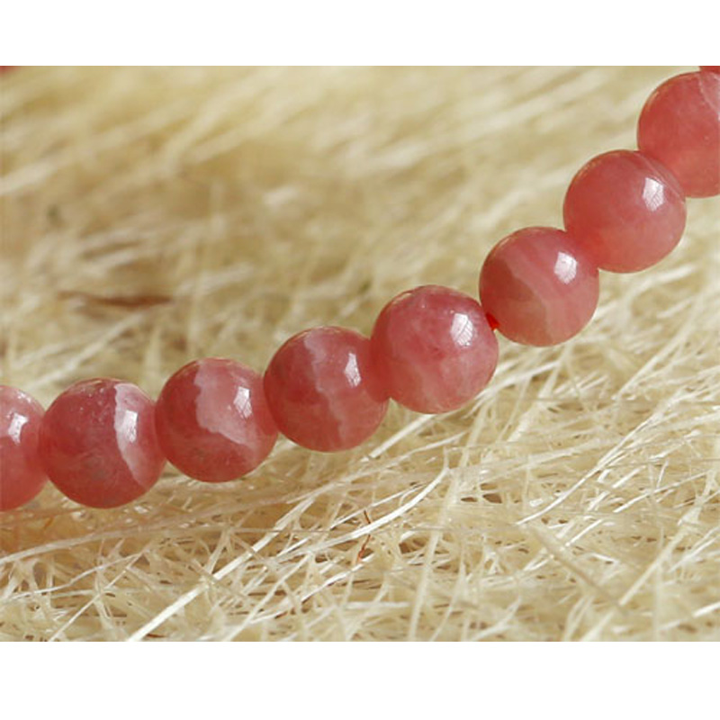 Discount Wholesale Genuine Natural Red Rhodochrosite Stretch Finished Bracelet Round beads 5.5mm Jewelry Small Beads 03472 punk style beads dumbbell alloy stretch bracelet