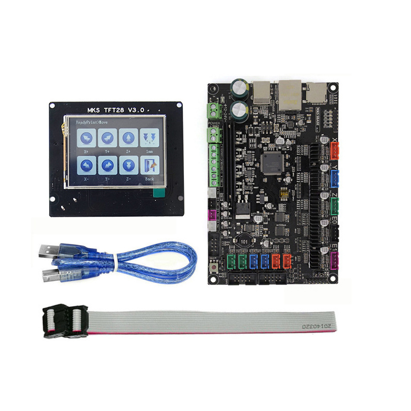 3d printer contol card MKS SBASE V1.3+TFT28 display LCD touch screen kit controller starter kits imprimante Reprap control panel 3d printer kit motherboard mks base mks tft32 touch screen all in one controller starter kits imprimante reprap control panel