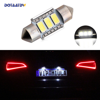 1x Dome Festoon 5630 Error free License Number Plate Light For Mercedes Benz W208 W209 W203 W169 W210 W211 W212 AMG CLK image