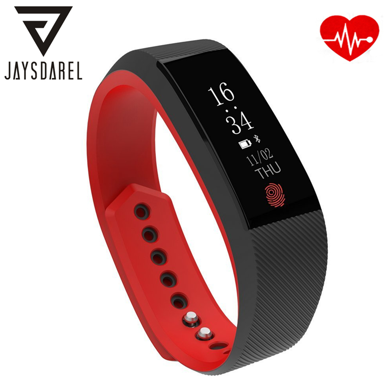 JAYSDAREL W808S Heart Rate Monitor Smart Watch OLED Screen Waterproof IP67 Weather Forecast Smart Bracelet for Android iOS smart baby watch каркам q50 oled голубые