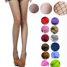 Women tights fishnet stockings multi-color color small medium large mesh fishing net pantyhose anti-hook nylon dance panties tube