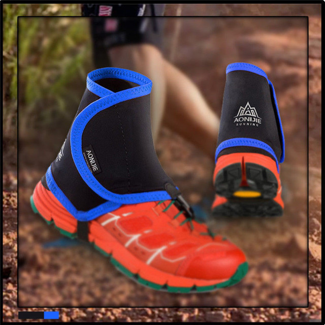 Low Trail Running Gaiters Protective Wrap Shoe Covers Pair For Men Women Outdoor