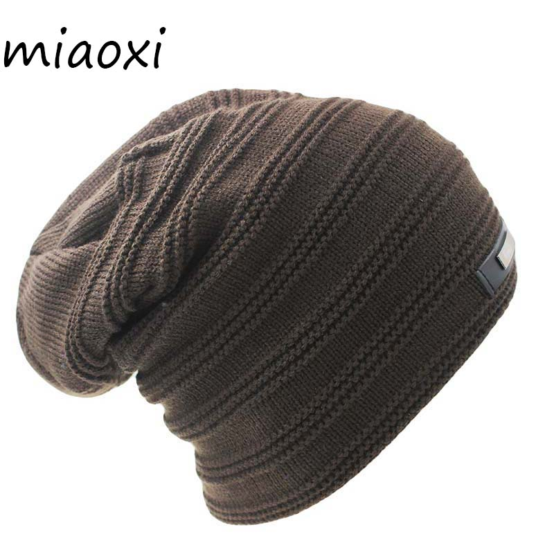 miaoxi New Style  Knitting Winter Warm Men Fashion Hat Unix Adult Solid Knit Women Caps Band Beanies Skullies For Woman Bonnet слингобусы ti amo мама слингобусы сильвия