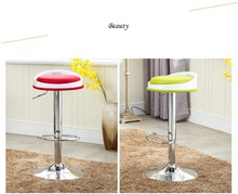 Christmas New year bar chair orange green color stool cafe room lifting rotation chair stool free
