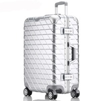 20''24''26''29'' Aluminum Rolling Luggage Spinner Travel Suitcase TSA Lock Cabin Luggage Women Boarding Box Carry On Bag Trolley