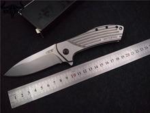 Folding knife KESIWO ZT0801 Camping knife ELMAX blade outdoor utility survival knife Steel handle tactical knife