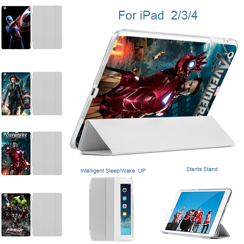 MTT New Arrive Tablet Case 9.7case for Apple ipad 2 ipad 3 ipad 4 Marvel's The Avengers Flip Smart Stand PU Leather Cover cartoon painted flower owl for kindle paperwhite 1 2 3 case flip bracket stand pu cover for amazon kindle paperwhite 1 2 3 case