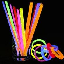 50 Pcs Party Fluorescence Light Glow Sticks Bracelets Necklaces Neon For Wedding Party Glow Sticks Bright Colorful Glow Sticks 20pcs christmas party supplies colorful glow sticks