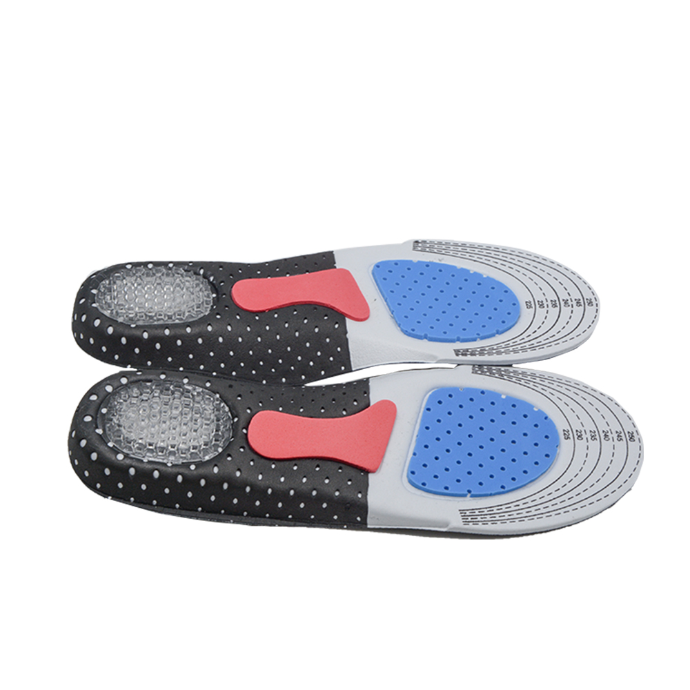 1 Pair Sport Insoles Foot Care for Plantar Fasciitis Heel Spur Running Sport Insoles Shock Absorption Pads Women Massage C533 medical nightime adjustable ankle foot orthosis foot drop plantar support brace fasciitis splint boot
