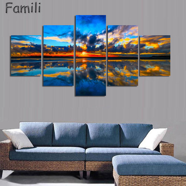 Aliexpress.com : Buy 5Pcs/set Wall Art Painting New Zealand Blue ...