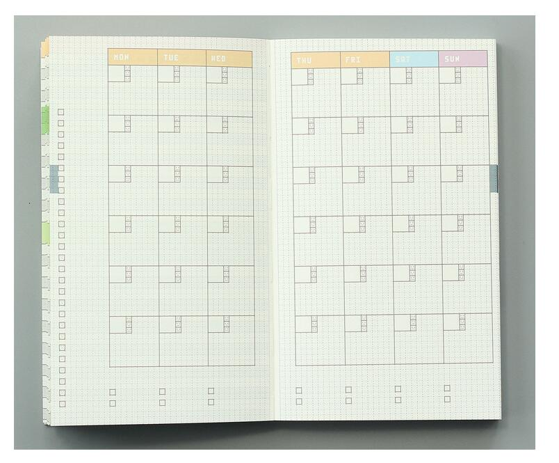 Färgrik inre bok för Hobonichi Journal Cover A5 Weekly Plan + - Block och anteckningsböcker - Foto 5