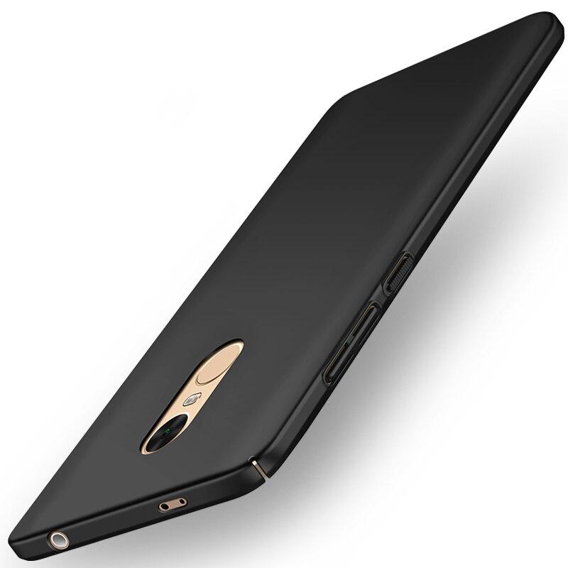 Para xiaomi redmi note 4x case teléfono de lujo de plástico duro mate case contr