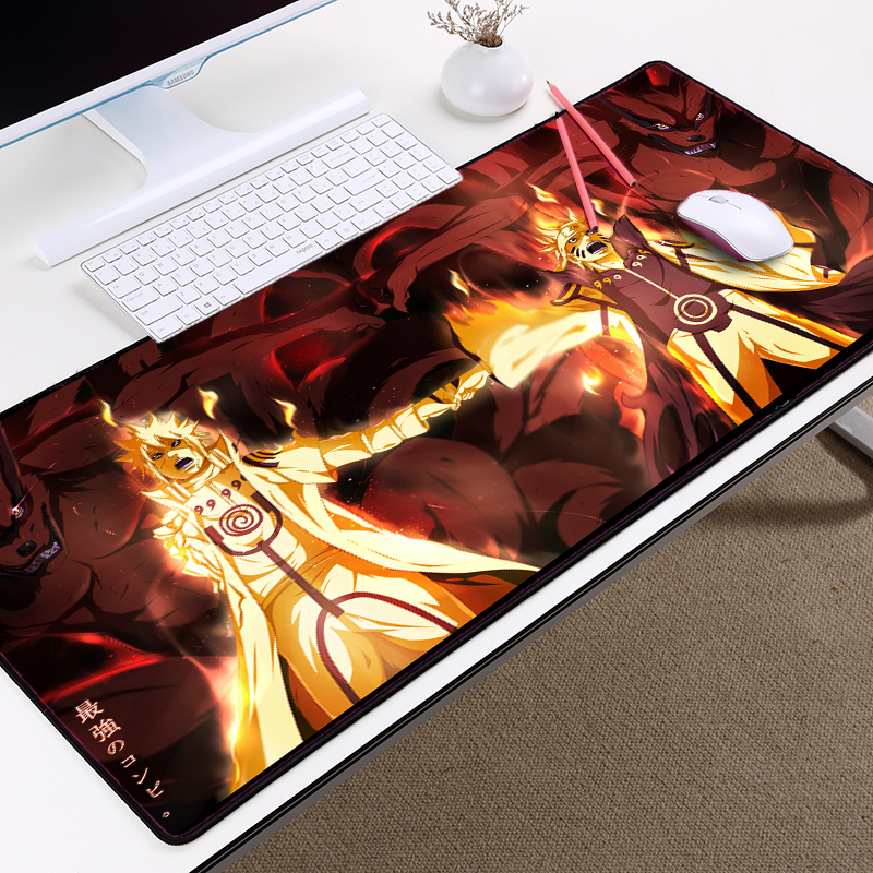Mairuige Anime Mousepad Naruto Uzumaki Immortal Model Table Mats Large Size 3000x800x3MM Mousemat for Gifts PC Gaming Mousepads