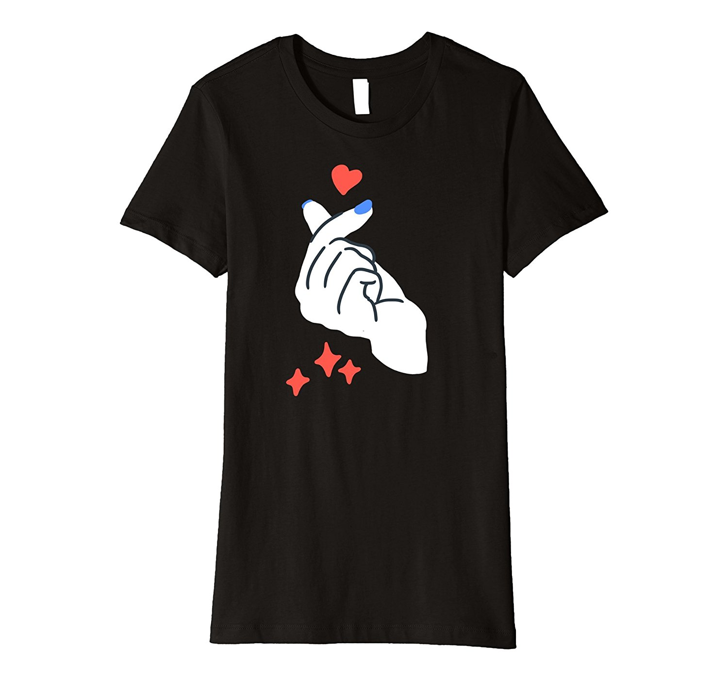 Heart design t shirt - Korean Finger Heart I Love You T Shirt Saranghae Kpop Tee Design T Shirt Cute