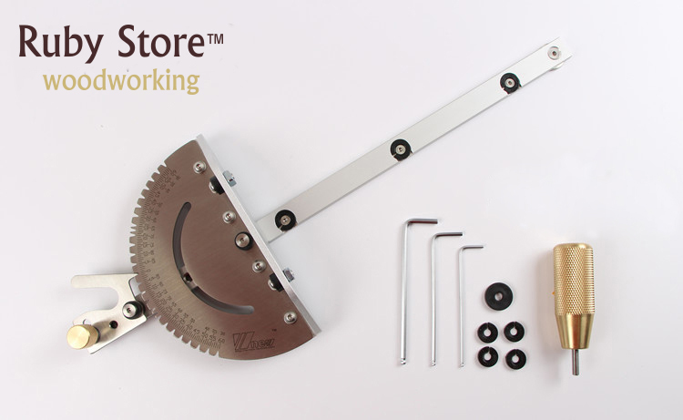 Tools : Miter Gauge for Table Saw Router Table Brass Aluminum Handle Woodworking Jig