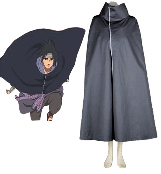 Free Shopping Anime Naruto Cos Uchiha Sasuke Only Cloak Halloween Cosplay Man Woman Ninja Cosplay Costume Cloak S-3XL
