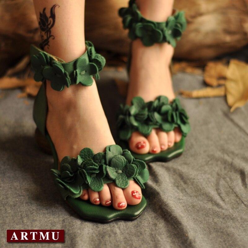 Здесь можно купить    Artmu Cork Sandals Gladiator Women Shoes Flowers Sandals Women Cork Heel Sandals zapatillas sandalias women sandalias Обувь