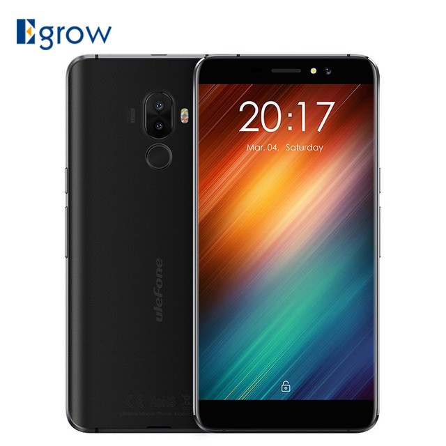 Ulefone S8 Dual Rear Cameras Mobile Phone 5.3 inch HD MTK6580 Quad Core Android 7.0 1GB+8GB Cell phone Fingerprint ID Smartphone