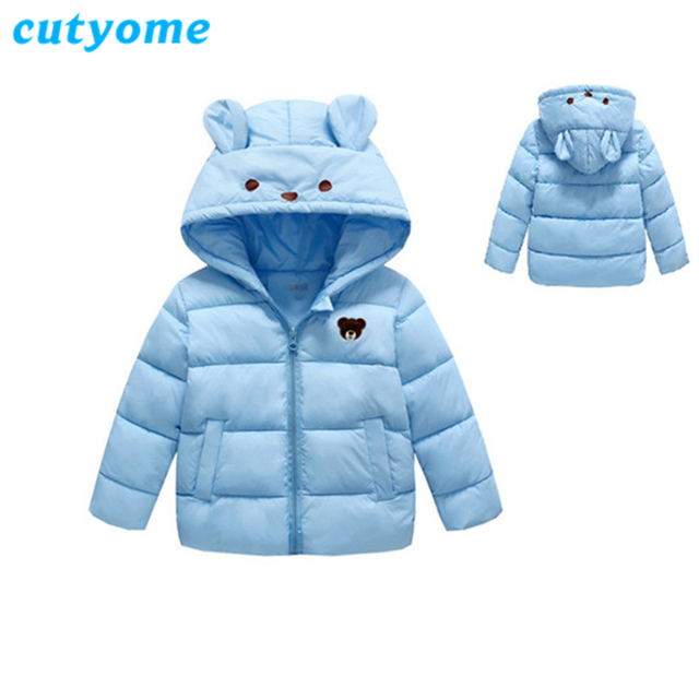 fa211806f Baby Girls Boys Parka Coats 2018 New Cartoon Bear Hoodie Down Cotton ...